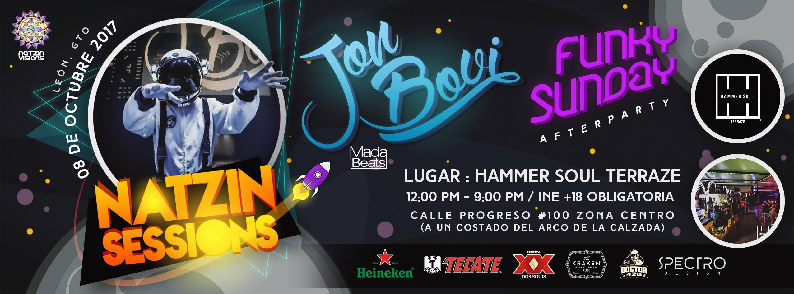 "8 Oct 17  – Natzin Sessions | Jon Bovi ""FunkySunday"" León Gto"