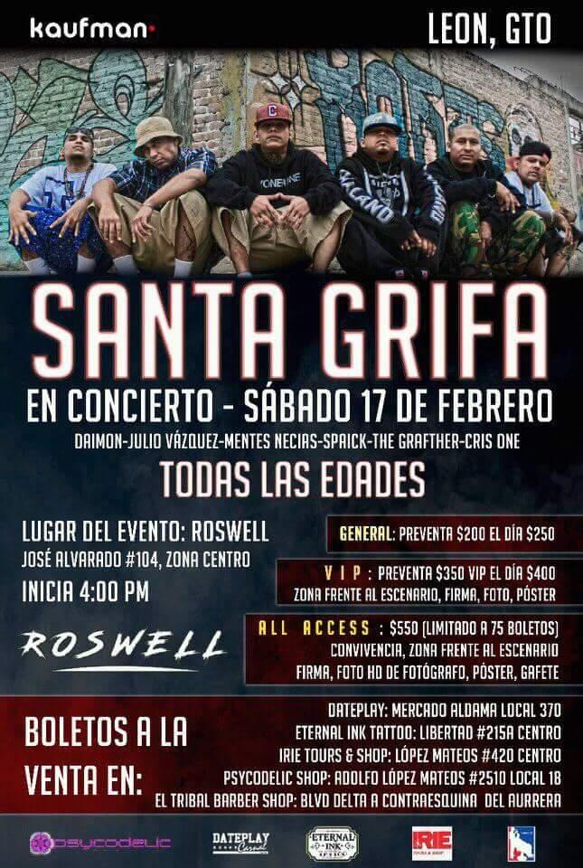 Santa Grifa en León Guanajuato 2018