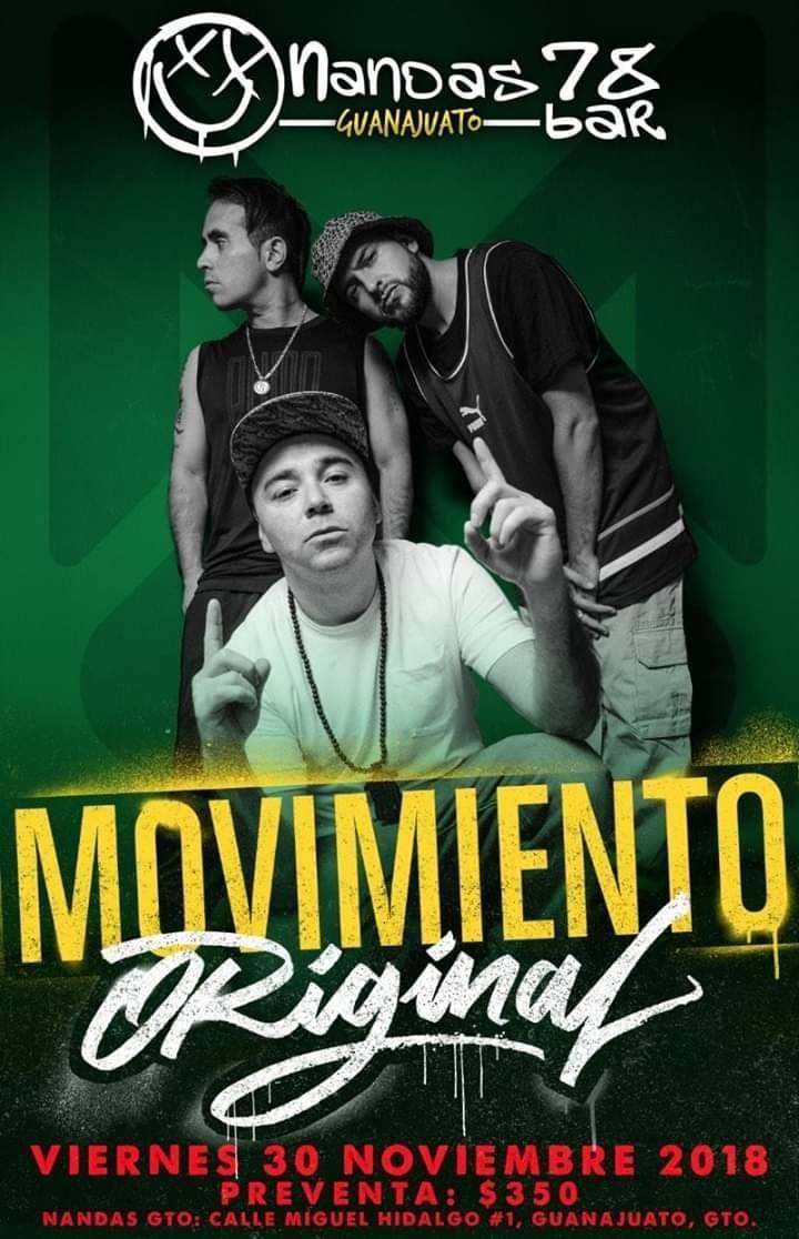 Movimiento Original 30 Nov 2018 @ Nandas Bar Guanajuato